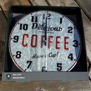 Home Trends Wall Clock Delicious Fresh Coffee